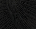 Fiber Content 65% Acrylic, 25% Wool, 10% Viscose, Brand ICE, Black, Yarn Thickness 4 Medium  Worsted, Afghan, Aran, fnt2-40012