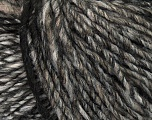 Fiber Content 65% Acrylic, 25% Wool, 10% Viscose, Brand Ice Yarns, Grey Shades, Black, Yarn Thickness 4 Medium  Worsted, Afghan, Aran, fnt2-40022