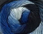 Fiber Content 50% Acrylic, 50% Wool, Brand ICE, Blue Shades, Yarn Thickness 2 Fine  Sport, Baby, fnt2-40622
