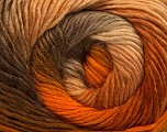 Fiber Content 50% Acrylic, 50% Wool, Brand ICE, Gold, Brown Shades, Yarn Thickness 2 Fine  Sport, Baby, fnt2-40624