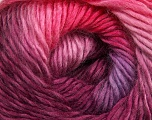 Fiber Content 50% Acrylic, 50% Wool, Pink Shades, Maroon, Lilac, Brand ICE, Yarn Thickness 2 Fine  Sport, Baby, fnt2-40627