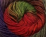 Fiber Content 50% Acrylic, 50% Wool, Red, Purple, Brand ICE, Green, Brown, Yarn Thickness 2 Fine  Sport, Baby, fnt2-40631