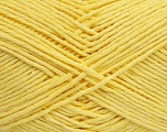 Please note that the yarn weight and the ball length may vary from one color to another for this yarn. Fiber Content 100% Cotton, Brand Ice Yarns, Baby Yellow, Yarn Thickness 3 Light  DK, Light, Worsted, fnt2-40916