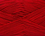 Fiber Content 50% Bamboo, 50% Cotton, Red, Brand ICE, Yarn Thickness 2 Fine  Sport, Baby, fnt2-42214