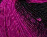 Fiber Content 65% Dralon Acrylic, 4% Paillette, 31% Wool, Brand Ice Yarns, Fuchsia, Black, Yarn Thickness 3 Light  DK, Light, Worsted, fnt2-42639