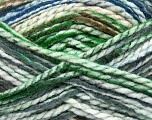 Easy knit bulky yarn. Note that this is a self-stripping yarn. Please see package photos for the color change. Machine washable and dryable. Fiber Content 100% Acrylic, White, Navy, Brand Ice Yarns, Grey, Green, Brown, Yarn Thickness 5 Bulky  Chunky, Craft, Rug, fnt2-42711