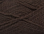 Fiber Content 60% Virgin Wool, 40% Acrylic, Brand ICE, Dark Brown, Yarn Thickness 2 Fine  Sport, Baby, fnt2-43530