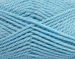 Fiber Content 60% Virgin Wool, 40% Acrylic, Brand Ice Yarns, Baby Blue, Yarn Thickness 5 Bulky  Chunky, Craft, Rug, fnt2-43573