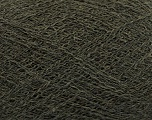 Fiber Content 50% Polyamide, 40% Baby Alpaca, 10% Merino Wool, Brand Ice Yarns, Dark Khaki, Yarn Thickness 0 Lace  Fingering Crochet Thread, fnt2-44569