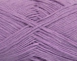 Please note that the yarn weight and the ball length may vary from one color to another for this yarn. Fiber Content 100% Cotton, Lilac, Brand ICE, Yarn Thickness 3 Light  DK, Light, Worsted, fnt2-44868