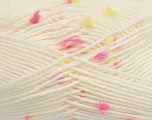 Fiber Content 87% Antipilling Acrylic, 13% Polyester, Yellow, White, Pink, Brand Ice Yarns, Yarn Thickness 3 Light  DK, Light, Worsted, fnt2-45193