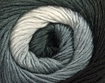 Fiber Content 50% Wool, 50% Acrylic, White, Brand ICE, Grey, Black, Yarn Thickness 2 Fine  Sport, Baby, fnt2-45312