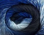 Fiber Content 50% Wool, 50% Acrylic, Brand ICE, Blue Shades, Yarn Thickness 2 Fine  Sport, Baby, fnt2-45313