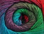 Fiber Content 50% Wool, 50% Acrylic, Turquoise, Red, Purple, Khaki, Brand ICE, Green, Yarn Thickness 2 Fine  Sport, Baby, fnt2-45318