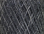 Fiber Content 50% Cotton, 35% Viscose, 15% Metallic Lurex, Silver, Brand Ice Yarns, Black, fnt2-45908