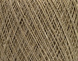 Fiber Content 50% Cotton, 35% Viscose, 15% Metallic Lurex, Silver, Brand Ice Yarns, Beige, fnt2-45909