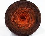 Fiber Content 50% Acrylic, 50% Cotton, Orange, Brand ICE, Brown Shades, Yarn Thickness 2 Fine  Sport, Baby, fnt2-46159