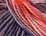 Fiber Content 75% Acrylic, 25% Wool, White, Purple, Orange, Maroon, Brand ICE, Yarn Thickness 5 Bulky  Chunky, Craft, Rug, fnt2-46229