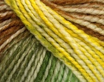 Fiber Content 75% Acrylic, 25% Wool, Yellow, White, Brand ICE, Green, Brown, Yarn Thickness 5 Bulky  Chunky, Craft, Rug, fnt2-46230