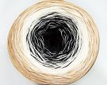 Fiber Content 50% Acrylic, 50% Cotton, Brand ICE, Cream, Black, Beige, Yarn Thickness 2 Fine  Sport, Baby, fnt2-46427