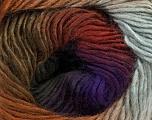 Fiber Content 50% Wool, 50% Acrylic, Purple Shades, Khaki, Brand ICE, Grey, Brown Shades, Yarn Thickness 2 Fine  Sport, Baby, fnt2-46630