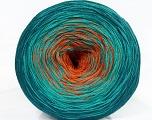 Fiber Content 50% Cotton, 50% Acrylic, Teal, Orange, Brand Ice Yarns, Emerald Green, Yarn Thickness 2 Fine  Sport, Baby, fnt2-46663