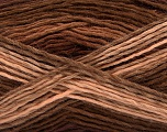 This is a self-striping yarn. Please see package photo for the color combination. Fiber Content 100% Acrylic, Brand Ice Yarns, Cafe Latte, Brown Shades, Yarn Thickness 3 Light  DK, Light, Worsted, fnt2-46808