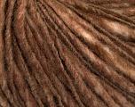 Fiber Content 50% Wool, 50% Acrylic, Brand Ice Yarns, Brown, Yarn Thickness 4 Medium  Worsted, Afghan, Aran, fnt2-46856