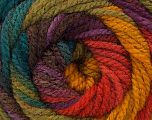 Fiber Content 100% Acrylic, Turquoise, Red, Purple, Brand ICE, Green Shades, Gold, Yarn Thickness 4 Medium  Worsted, Afghan, Aran, fnt2-46968