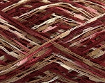 Fiber Content 100% Acrylic, Brand Ice Yarns, Cream, Camel, Burgundy, Yarn Thickness 3 Light  DK, Light, Worsted, fnt2-47011
