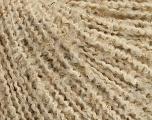 Boucle  Fiber Content 50% Acrylic, 5% Metallic Lurex, 45% Wool, Brand Ice Yarns, Gold, Cream, fnt2-47210