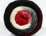 Fiber Content 90% Acrylic, 10% Polyamide, White, Red, Brand ICE, Black, Yarn Thickness 4 Medium  Worsted, Afghan, Aran, fnt2-48018