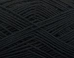 Fiber Content 65% Cotton, 35% Acrylic, Brand Ice Yarns, Black, Yarn Thickness 2 Fine  Sport, Baby, fnt2-48472