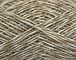 Fiber Content 36% Linen, 32% Cotton, 32% Acrylic, White, Brand Ice Yarns, Beige, fnt2-48548