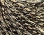 Fiber Content 40% Acrylic, 35% Wool, 25% Alpaca, Brand Ice Yarns, Grey, Cream, Brown, Black, Yarn Thickness 4 Medium  Worsted, Afghan, Aran, fnt2-48734