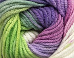 Fiber Content 100% Acrylic, White, Orchid, Lilac, Brand ICE, Green, Yarn Thickness 5 Bulky  Chunky, Craft, Rug, fnt2-49335
