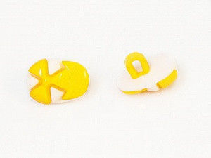 15mm long  Yellow, White, Yarn Thickness Other, Brand ICE, acs-482