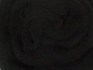 50gr-1.8m (1.76oz-1.97yards) 100% Wool felt Fiber Content 100% Wool, Yarn Thickness Other, Brand ICE, Black, acs-924