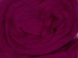 50gr-1.8m (1.76oz-1.97yards) 100% Wool felt Fiber Content 100% Wool, Yarn Thickness Other, Brand ICE, Fuchsia, acs-970
