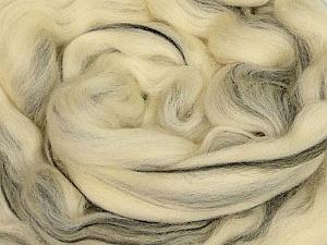 50gr-1.8m (1.76oz-1.97yards) 100% Wool felt Fiber Content 100% Wool, Yarn Thickness Other, Brand ICE, Cream, Black, acs-984