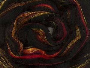 50gr-2m (1.76oz-2.18yards) 95%Wool, 5% Lurex Felt Fiber Content 95% Wool, 5% Lurex, Red, Yarn Thickness Other, Brand ICE, Gold, Black, acs-996