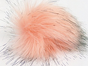 Diameter around 7cm (3&) Salmon, Brand Ice Yarns, Black, acs-1156