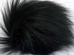 Diameter around 7cm (3&) Brand Ice Yarns, Black, acs-1169