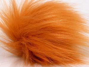 Diameter around 7cm (3&) Light Orange, Brand Ice Yarns, acs-1177