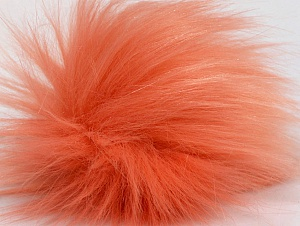 Diameter around 7cm (3&) Salmon, Brand Ice Yarns, acs-1178
