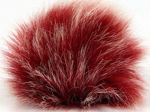 Diameter around 7cm (3&) White, Brand Ice Yarns, Dark Red, acs-1318