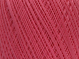 Ne: 10/3 Nm: 17/3 Fiber Content 100% Mercerised Cotton, Pink, Brand ICE, Yarn Thickness 1 SuperFine  Sock, Fingering, Baby, fnt2-49530