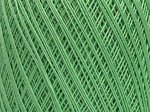 Ne: 10/3 Nm: 17/3 Fiber Content 100% Mercerised Cotton, Mint Green, Brand ICE, Yarn Thickness 1 SuperFine  Sock, Fingering, Baby, fnt2-49531
