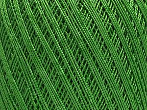 Ne: 10/3 Nm: 17/3 Fiber Content 100% Mercerised Cotton, Brand ICE, Green, Yarn Thickness 1 SuperFine  Sock, Fingering, Baby, fnt2-49532