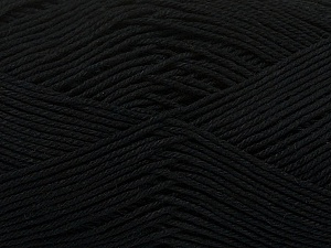 Ne: 8/4. Nm 14/4 Fiber Content 100% Mercerised Cotton, Brand ICE, Black, Yarn Thickness 2 Fine  Sport, Baby, fnt2-49593